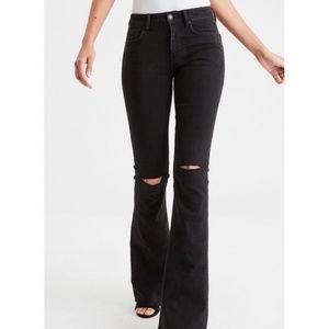 American Eagle Plus Size Hi-Rise Slim Flare Jeans